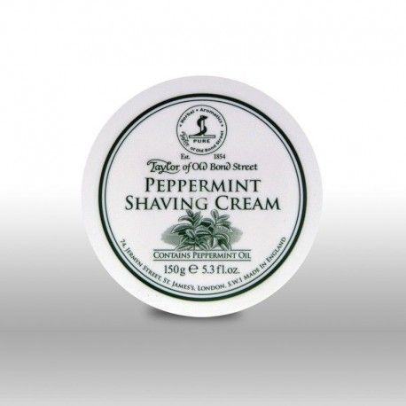 Taylor of Old Bond Street Peppermint Shaving Cream 150g