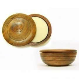 Sandalwood shaving soap Taylor of Old Bond Street, wooden bowl, 100g